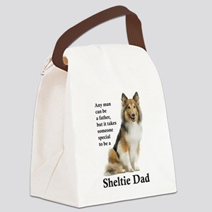 Sheltie Dad Canvas Lunch Bag