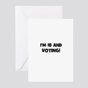 I'm 18 and Voting! Greeting Cards (Pk of 10)