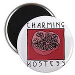 "CHARMING HOSTESS 2.25"" Magnet (10 pack)"