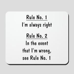 The Rules Mousepad