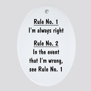 The Rules Oval Ornament
