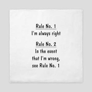 The Rules Queen Duvet