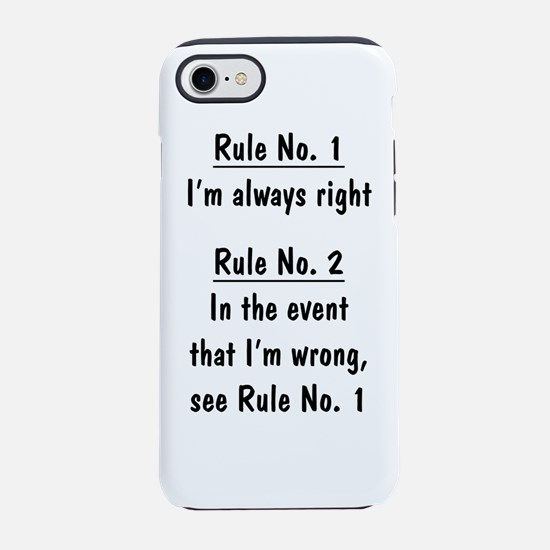 The Rules iPhone 8/7 Tough Case