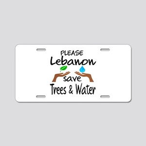 Please Lebanon Save Trees & Aluminum License Plate