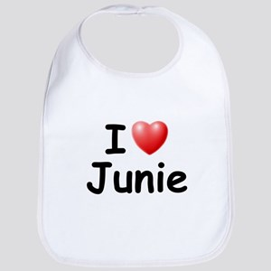I Love Junie (Black) Bib