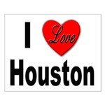 I Love Houston Small Poster