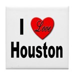I Love Houston Tile Coaster