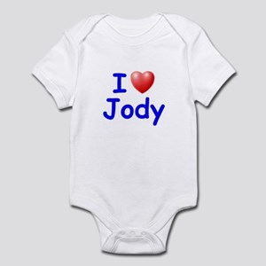 I Love Jody (Blue) Infant Bodysuit