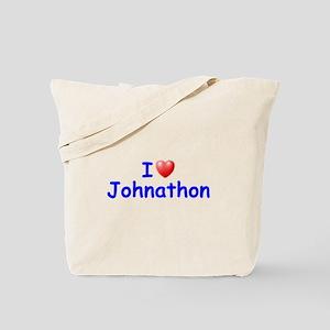 I Love Johnathon (Blue) Tote Bag
