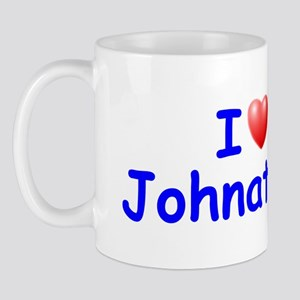 I Love Johnathon (Blue) Mug