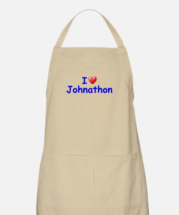 I Love Johnathon (Blue) BBQ Apron