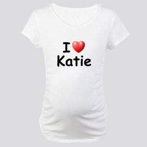 I Love Katie (Black) Maternity T-Shirt