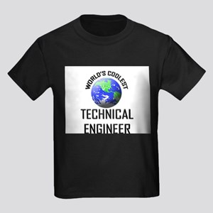 World's Coolest TECHNICAL ENGINEER Kids Dark T-Shi