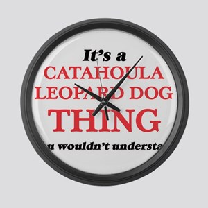 It's a Catahoula Leopard Dog Large Wall Clock