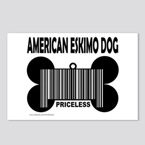 AMERICAN ESKIMO DOG PRICELESS Postcards (Package o