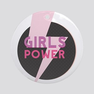 Girl power Round Ornament