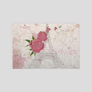 Vintage Paris 4' x 6' Rug