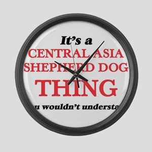 It's a Central Asia Shepherd Large Wall Clock