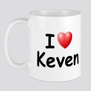 I Love Keven (Black) Mug