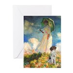 Umbrella / Ger SH Pointer Greeting Cards (Pk of 10