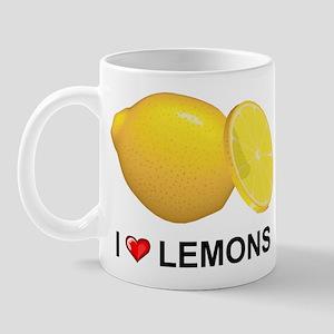 I Love Lemons Mug