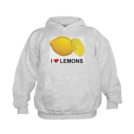 I Love Lemons Kids Hoodie