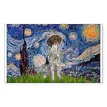 Starry Night /German Short Sticker (Rectangle)