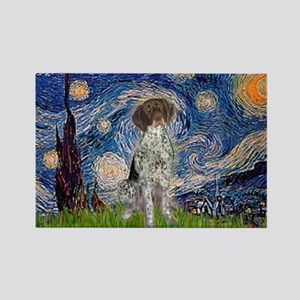 Starry Night /German Short Rectangle Magnet