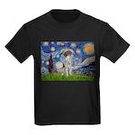 Starry Night /German Short Kids Dark T-Shirt