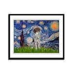 Starry Night /German Short Framed Panel Print