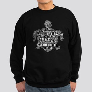 Save the Turtle Word Stencil Sweatshirt