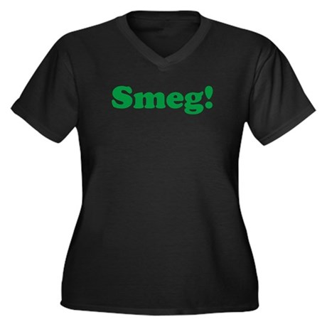 Smeg Women's Plus Size V-Neck Dark T-Shirt