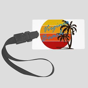 Summer virginia beach- virginia Large Luggage Tag