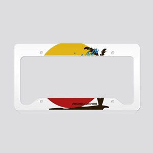 Summer virginia beach- virgin License Plate Holder