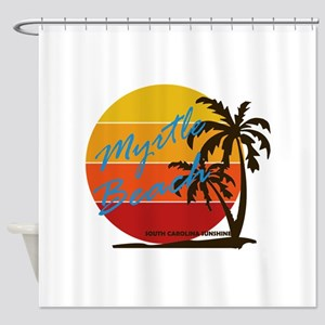 Summer myrtle beach- south carolina Shower Curtain