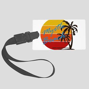 Summer myrtle beach- south carol Large Luggage Tag