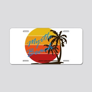 Summer myrtle beach- south Aluminum License Plate