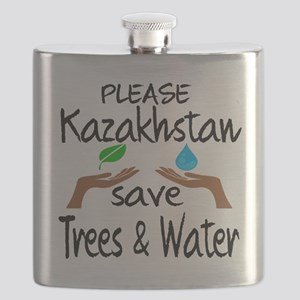 Please Kazakhstan Save Trees & Water Flask