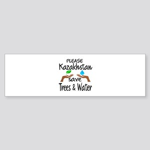 Please Kazakhstan Save Trees & Wa Sticker (Bumper)