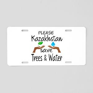 Please Kazakhstan Save Tree Aluminum License Plate