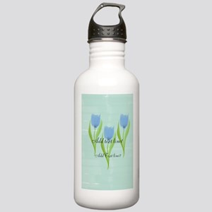 Spring Blue Tulips Water Bottle