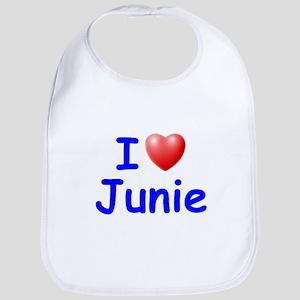 I Love Junie (Blue) Bib