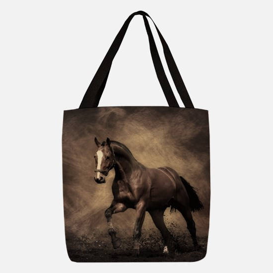 Beautiful Brown Horse Polyester Tote Bag