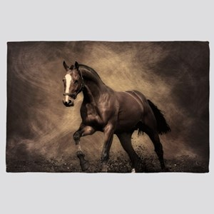 Beautiful Brown Horse 4' x 6' Rug