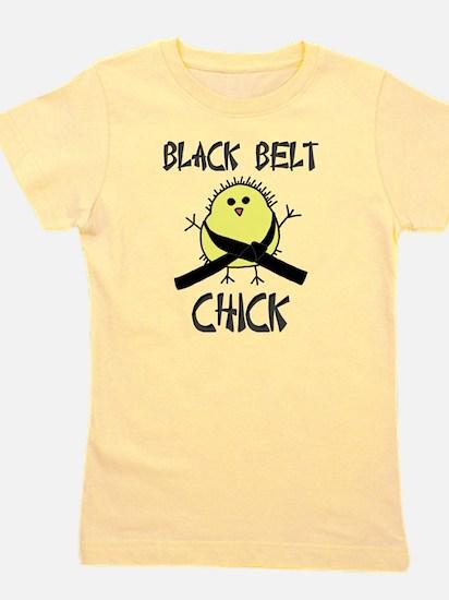 Black Belt Chick White T-Shirt