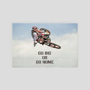 Motocross Rider 4' x 6' Rug