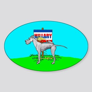 Blue Dane Pi$$ on Hillary Oval Sticker