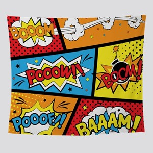 Comic Effects Wall Tapestry