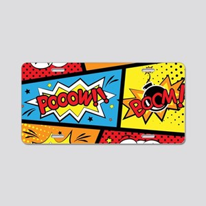Comic Effects Aluminum License Plate
