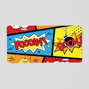 Comic Effects Aluminum License Plate